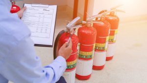 Regular fire extinguisher inspections are a must.