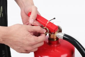 Know what you need to do with fire extinguishers.